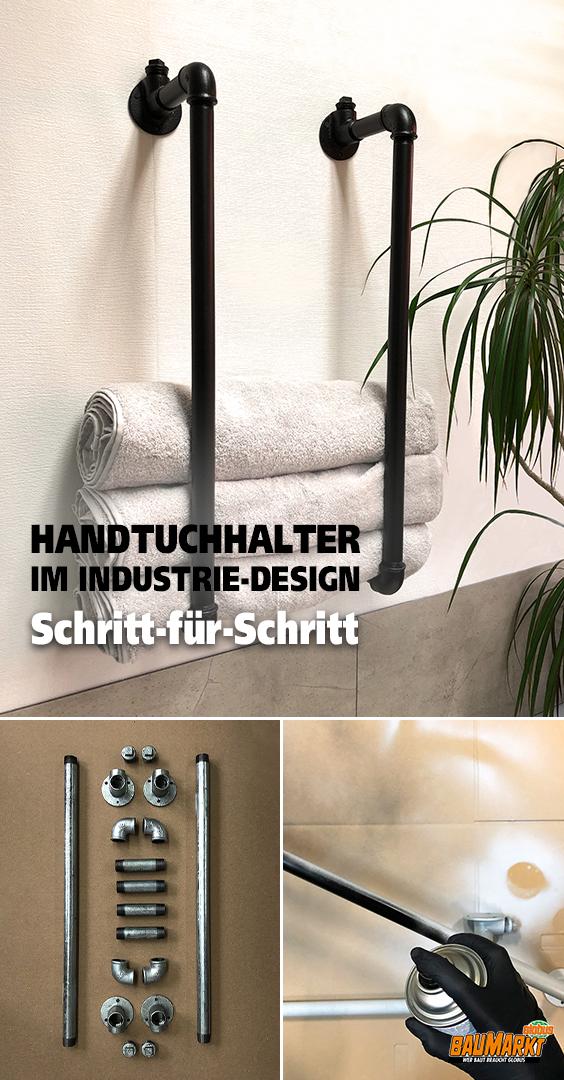 Handtuchhalter im Industriedesign selber bauen