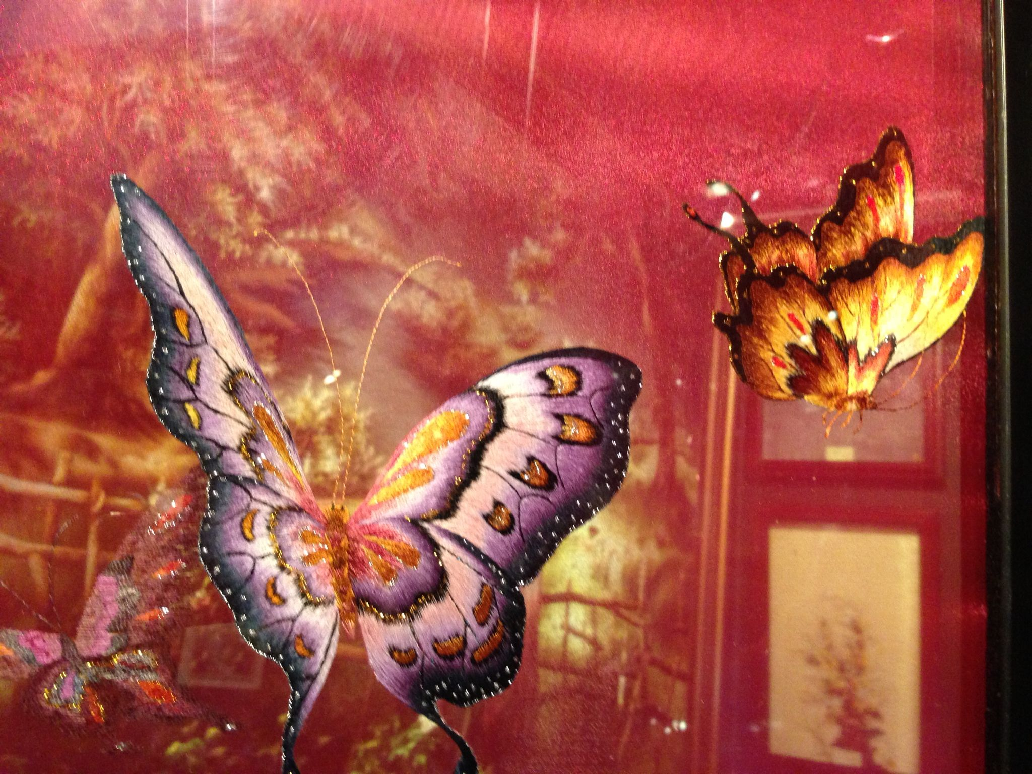 Butterfly embroidery by xq vietnam viet nam