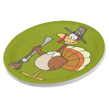 Thanksgiving Turkey Revenge Cartoon Paper Plate - thanksgiving day family holiday decor design idea  sc 1 st  Pinterest & Thanksgiving Turkey Revenge Cartoon Paper Plate - thanksgiving day ...