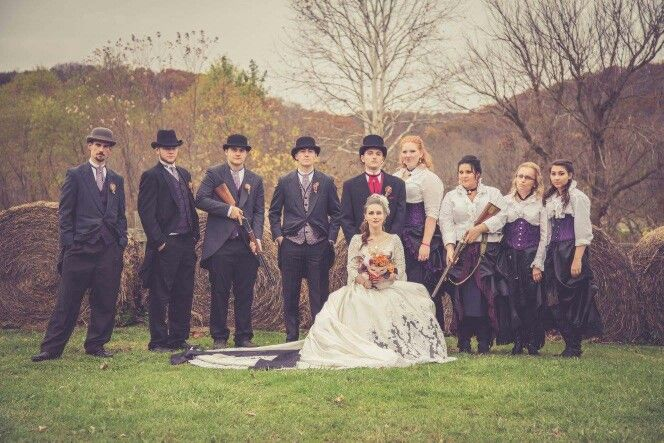 Steampunk wedding outfits by The Alley