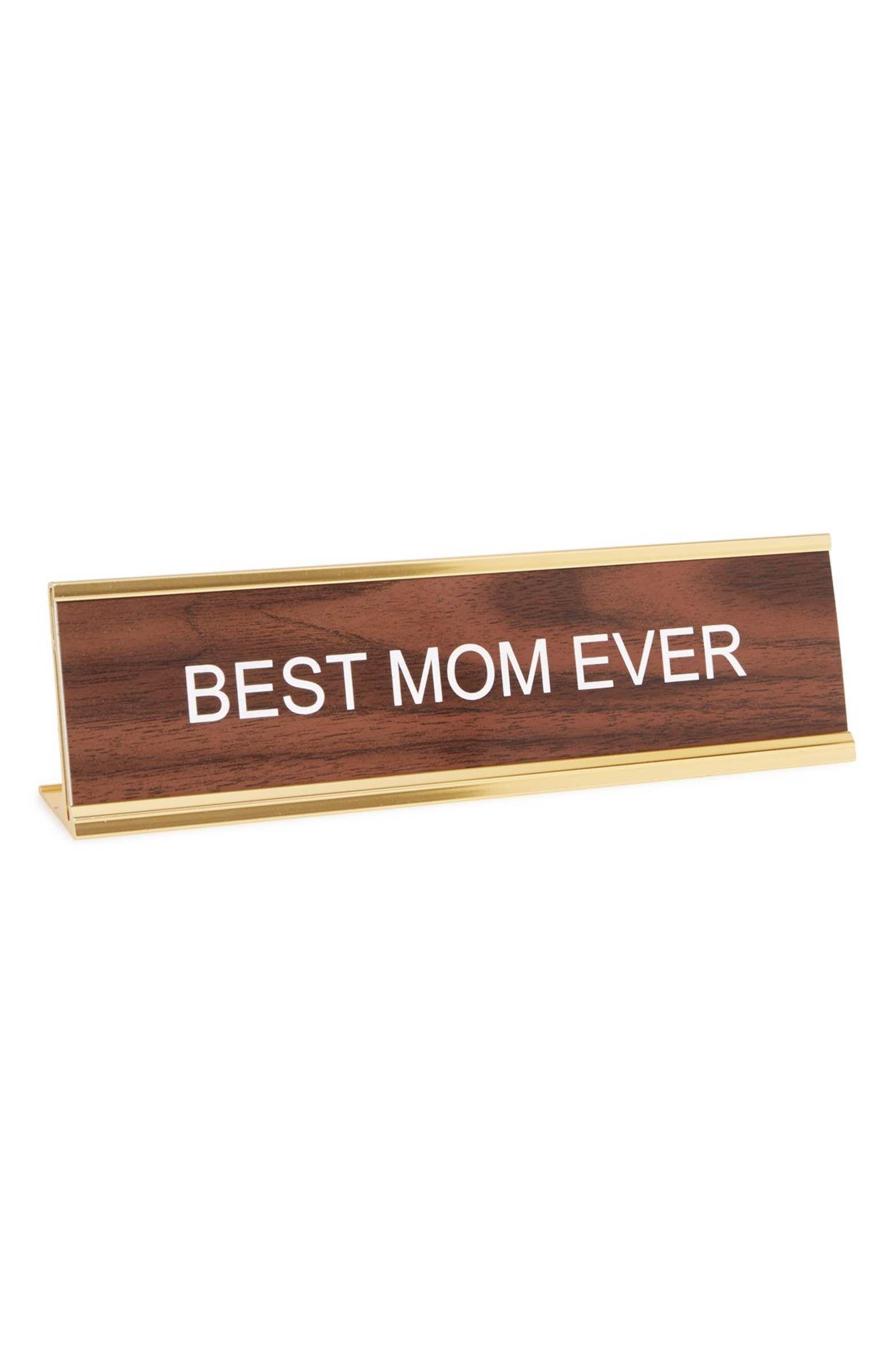 Main Image - He Said, She Said 'Best Mom Ever' Desk Sign