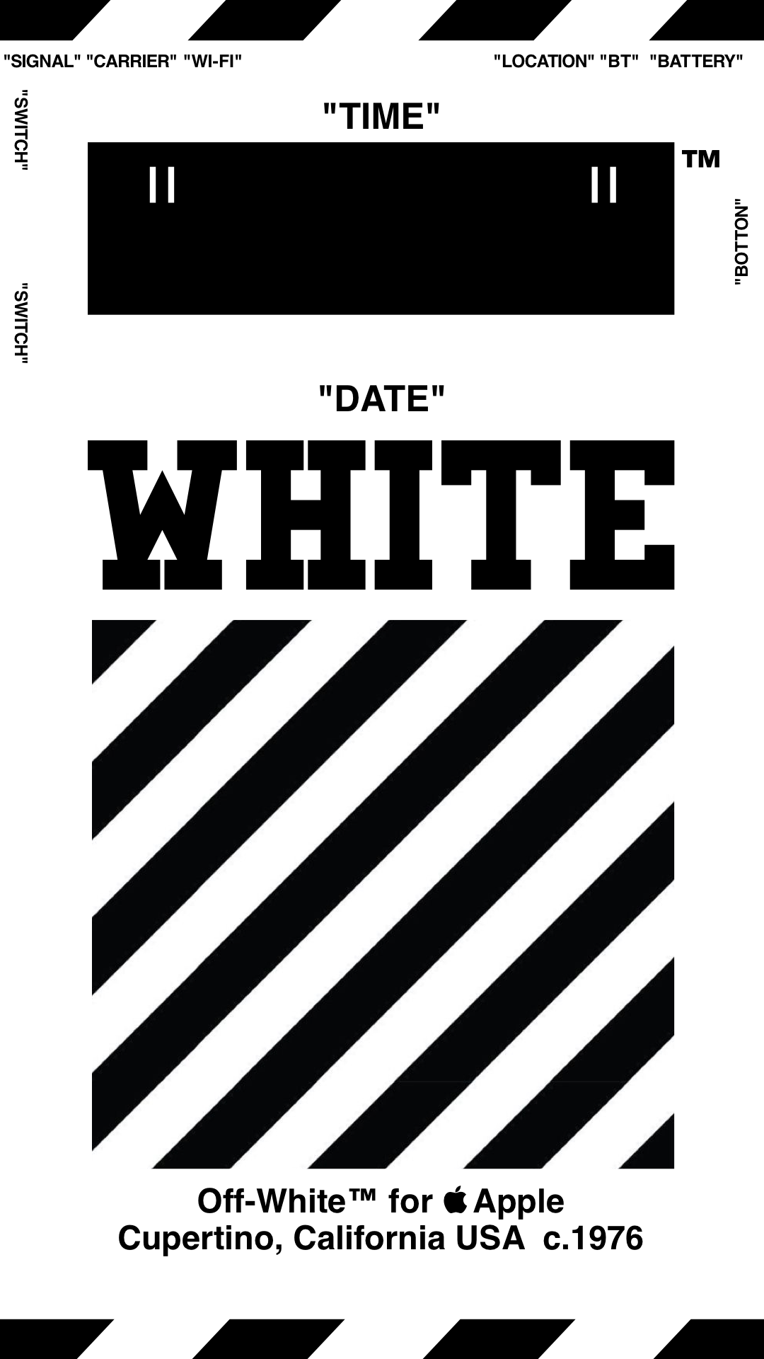 "Off-White™ ""OFFWHITE"" ""WALLPAPER"" ""IPHONE"" ""壁紙"" ""TYPE C-wh"" 18/4/3-8 