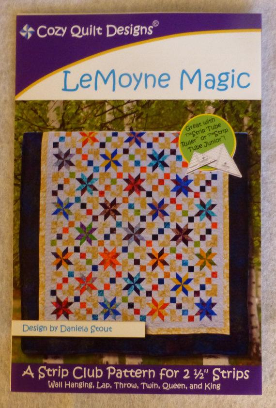 Quilt Patterns Using 6 Strips : Pattern, LeMoyne Magic Cozy Quilt Designs, for 2 1/2