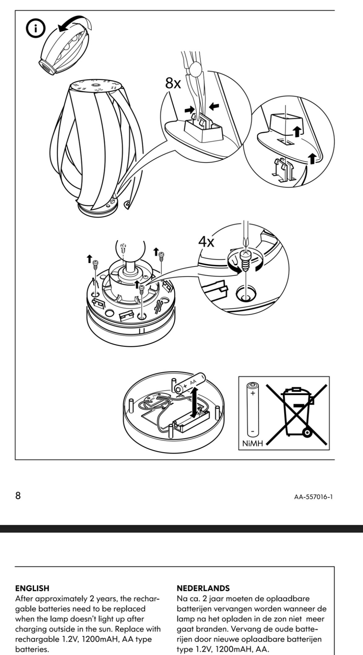 Disassembly* instructions for the #IKEA #SOLVINDEN #wind
