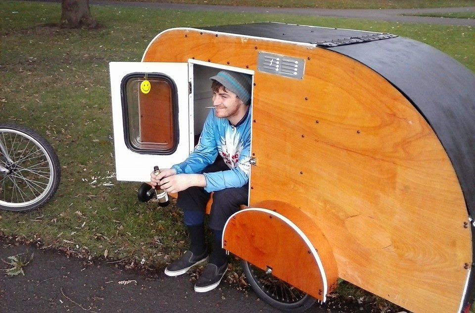 nice rig bicycle campers in 2018 pinterest fahrrad wohnwagen wohnwagen and camping anh nger. Black Bedroom Furniture Sets. Home Design Ideas