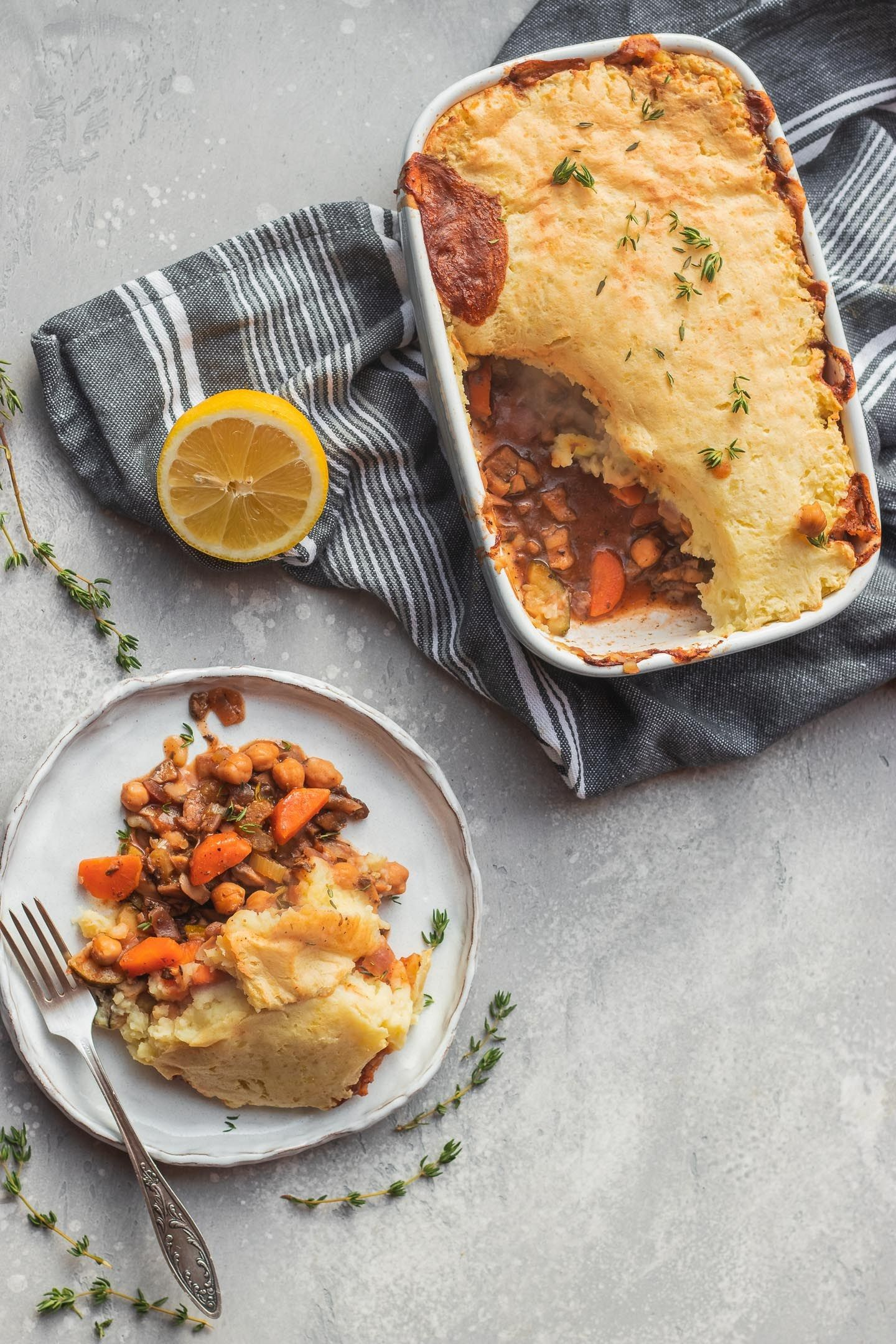 Chickpea Vegan Shepherds Pie Gluten Free