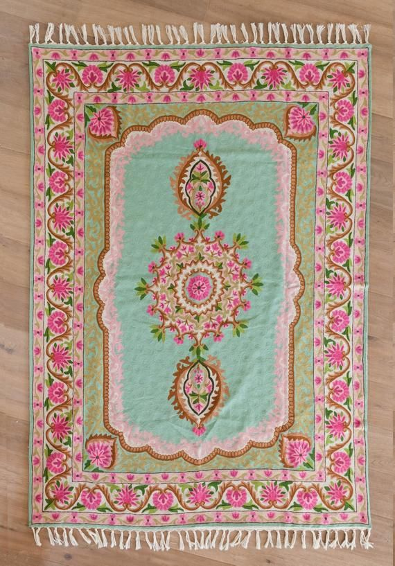 Oriental 5X8 Pink And Lime Green Rug Made Of #housewares