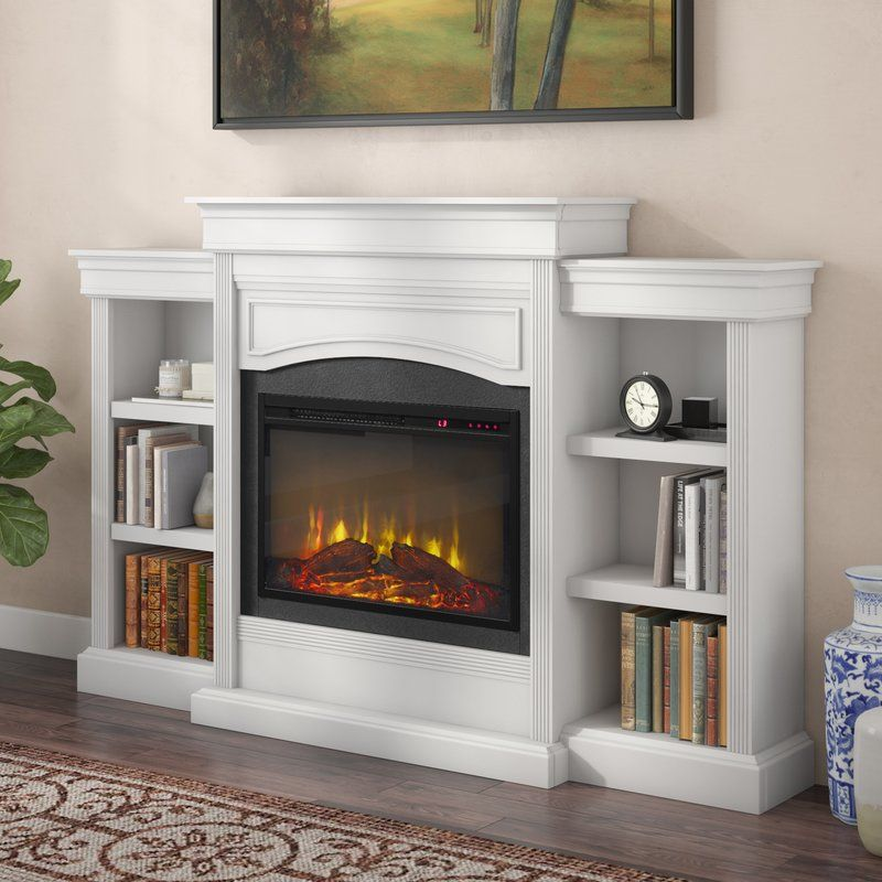 Allsop Mantel Wall Mounted Electric Fireplace With Images Wall