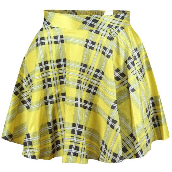 Yellow Grids Printed Sexy Ladies Cute Pleated Skirt ($11) ❤ liked on Polyvore featuring skirts, yellow, yellow pleated skirt, sexy skirt, green skirt, knee length pleated skirt and pleated skirts