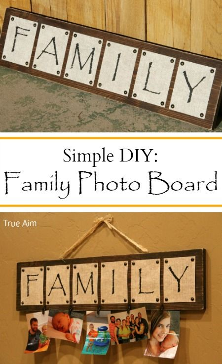 Diy Family Photo Display Click On Image To See More Home: DIY Family Photo Board Tutorial