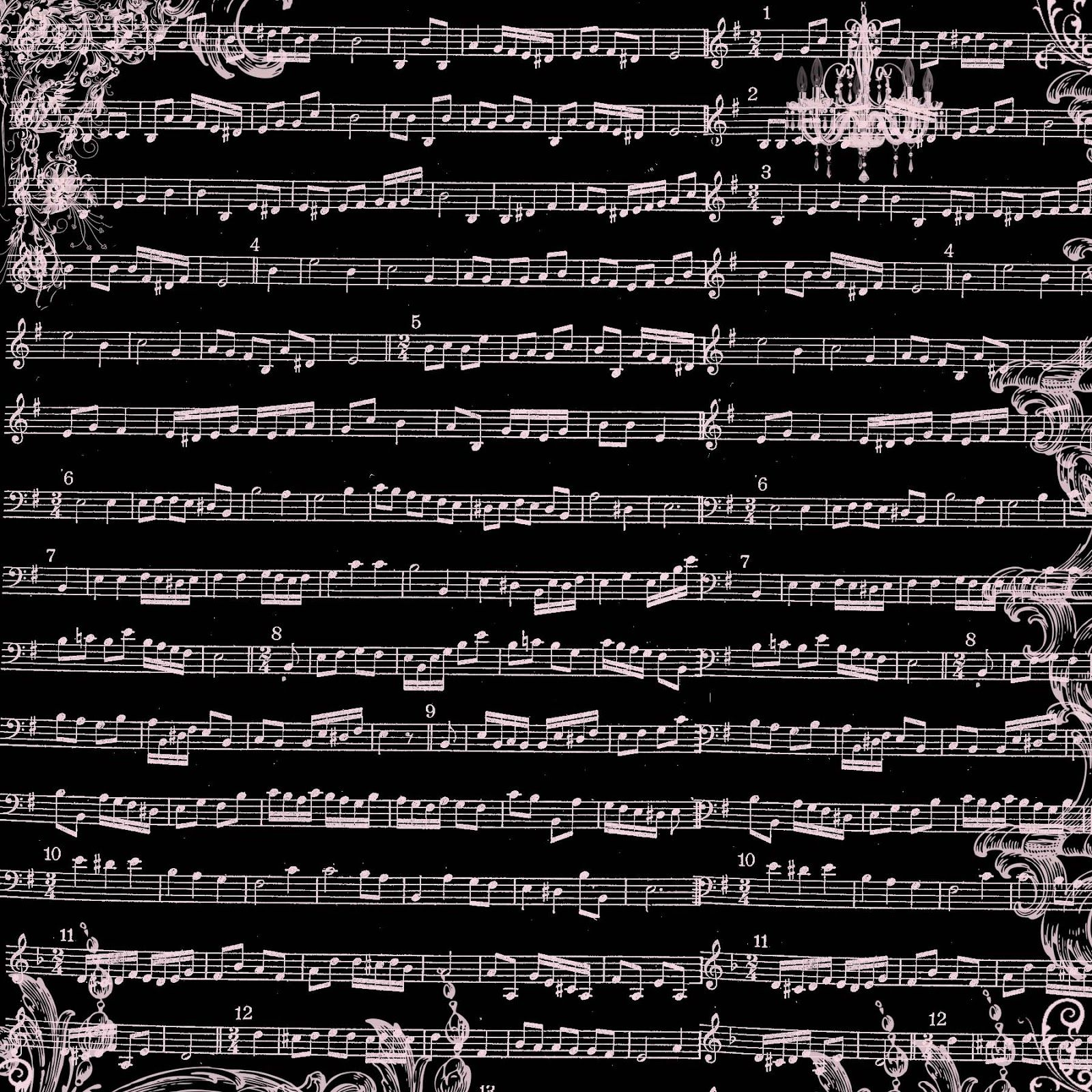 Sound of music scrapbook paper