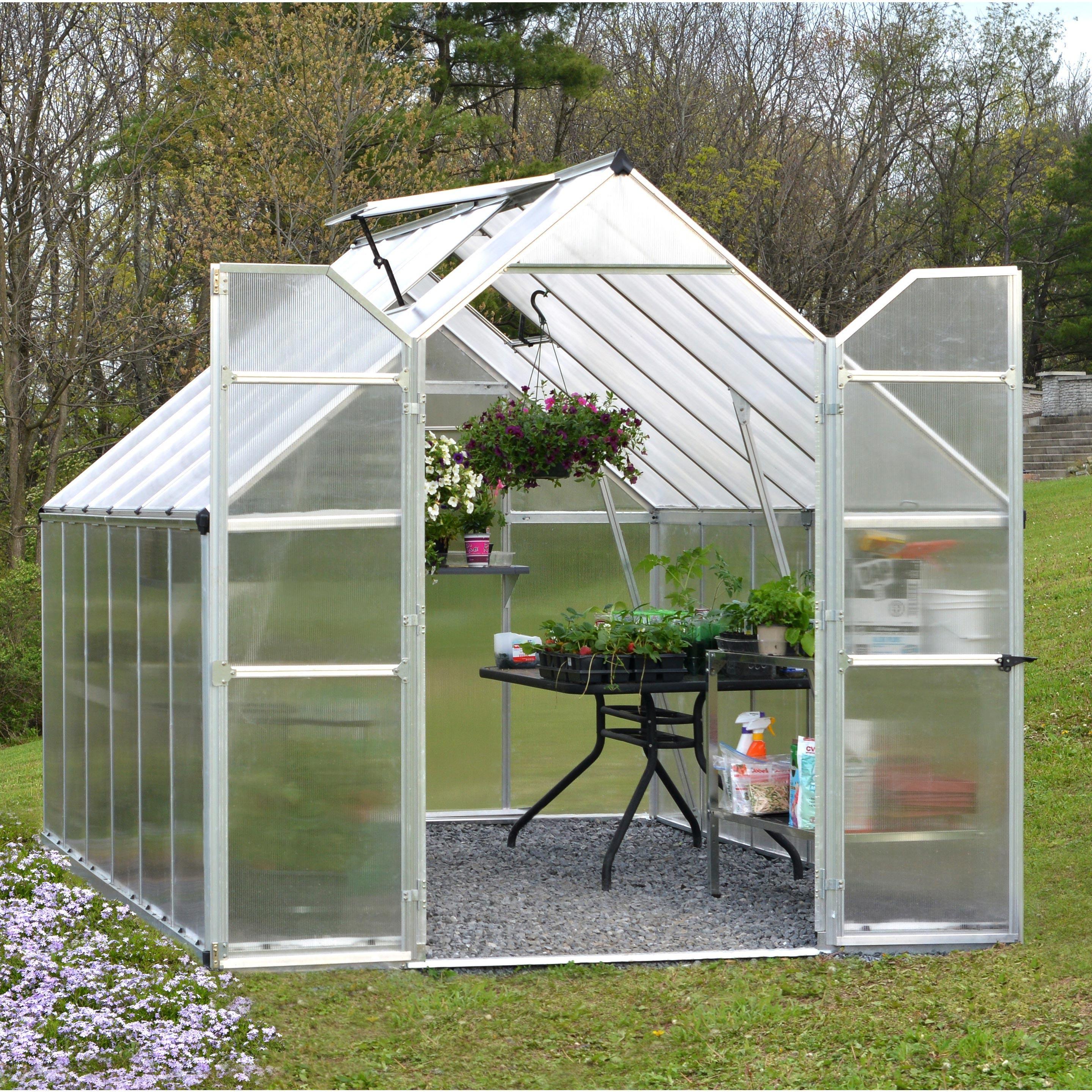 Serre De Jardin Essence 89 M² Aluminium Et Polycarbonate