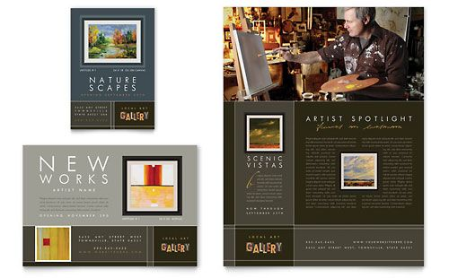 Art Gallery \ Artist Flyer \ Ad InDesign Template by @StockLayouts - flyers and brochures templates