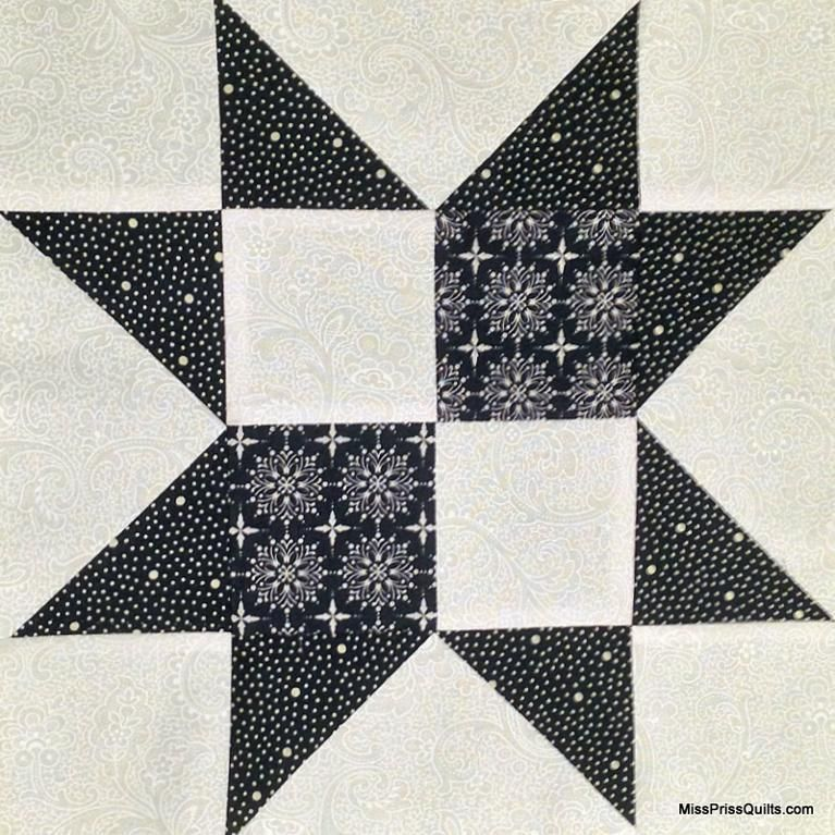 (7) Name: 'Quilting : Four-Patch Star