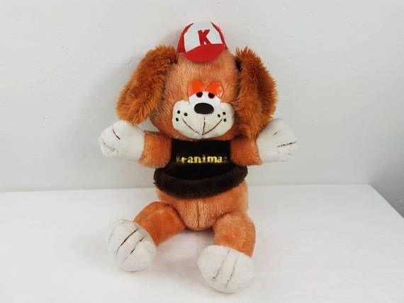 Kmart Kranimal Dog Plush Original Kranimals Collectible Vintage Kids Toys Handmade Kids Toys