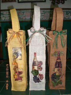 Bolsas De Yute Para Botellas De Vino Con Imagenes Bolsas De