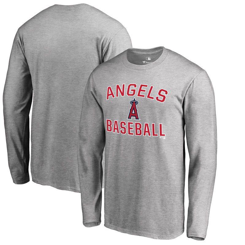 Los Angeles Angels Big & Tall Victory Arch Long Sleeve T-Shirt - Ash