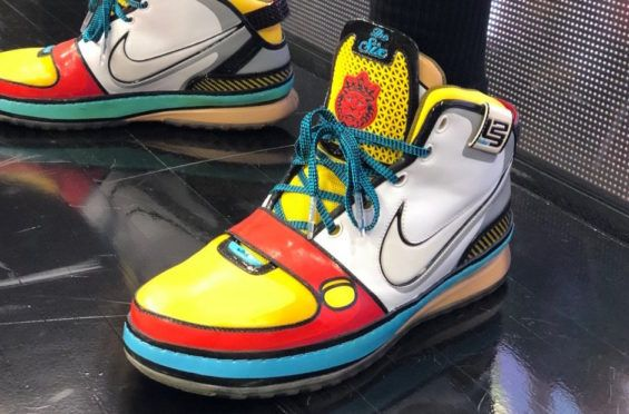 1d432b89e51 LeBron James Wears The Nike LeBron 6 Stewie Griffin PE At Practice Game 3  of the