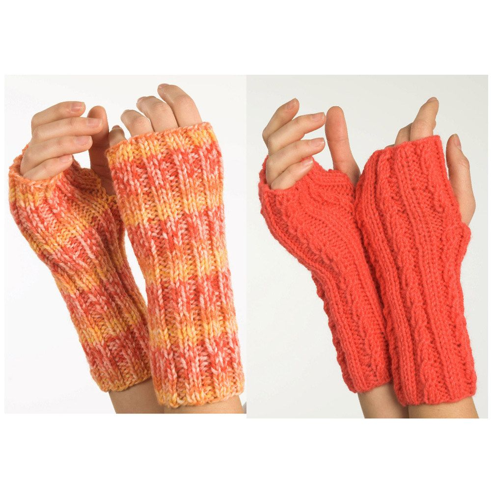 Fingerless Gloves in Plymouth Encore Worsted - F236 | Knitting ...