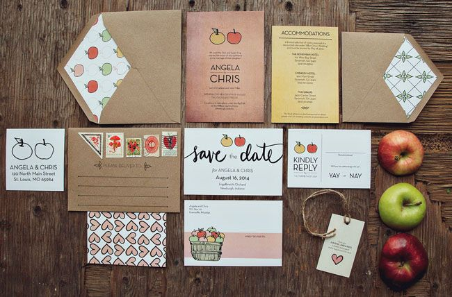 foodie wedding invitations by yours is the earth typography