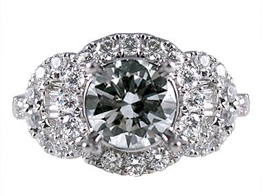 All Rings Art Deco Engagement Ring; $2220; center stone not included; could do ruby!
