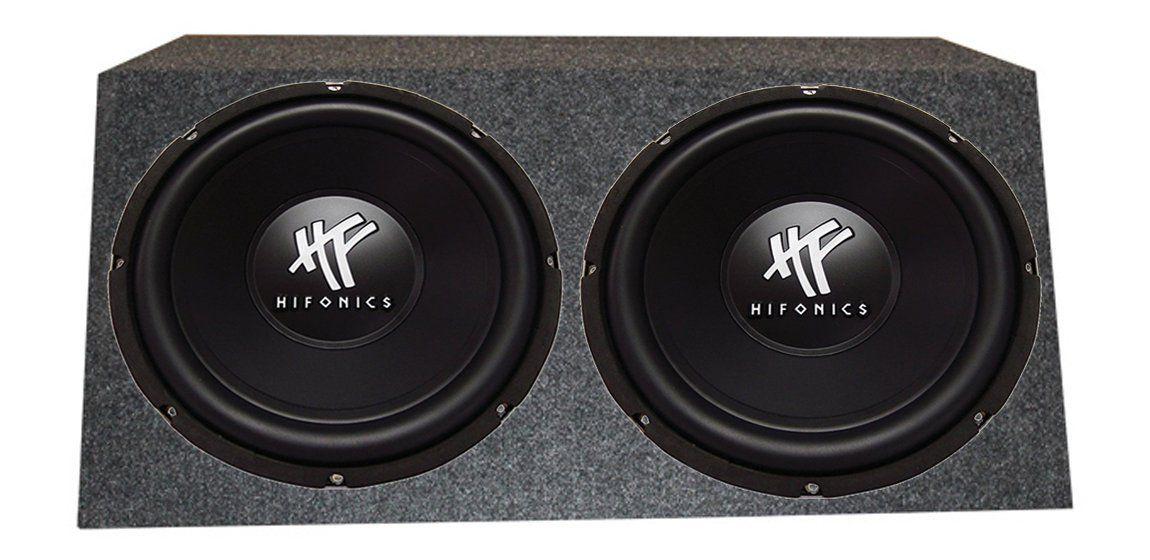 hifonics hfxd w car audio dvc subwoofers subwoofers 2 hifonics hfx12d4 12 1600w car audio dvc subwoofers subwoofers angled box