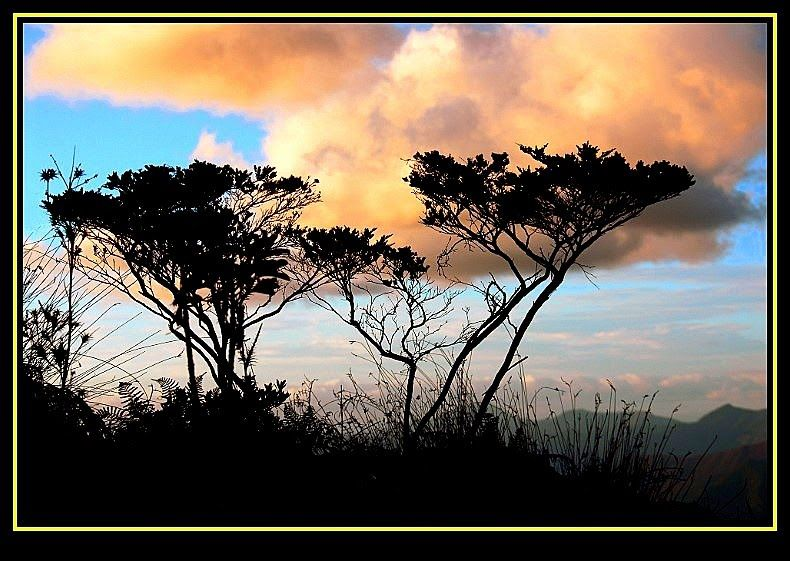 Crépuscule sur les Monts Dzumac ( Dumbéa )