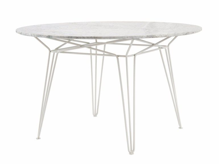 PARISI | Table en marbre | Table de jardin ronde, Tables en marbre ...