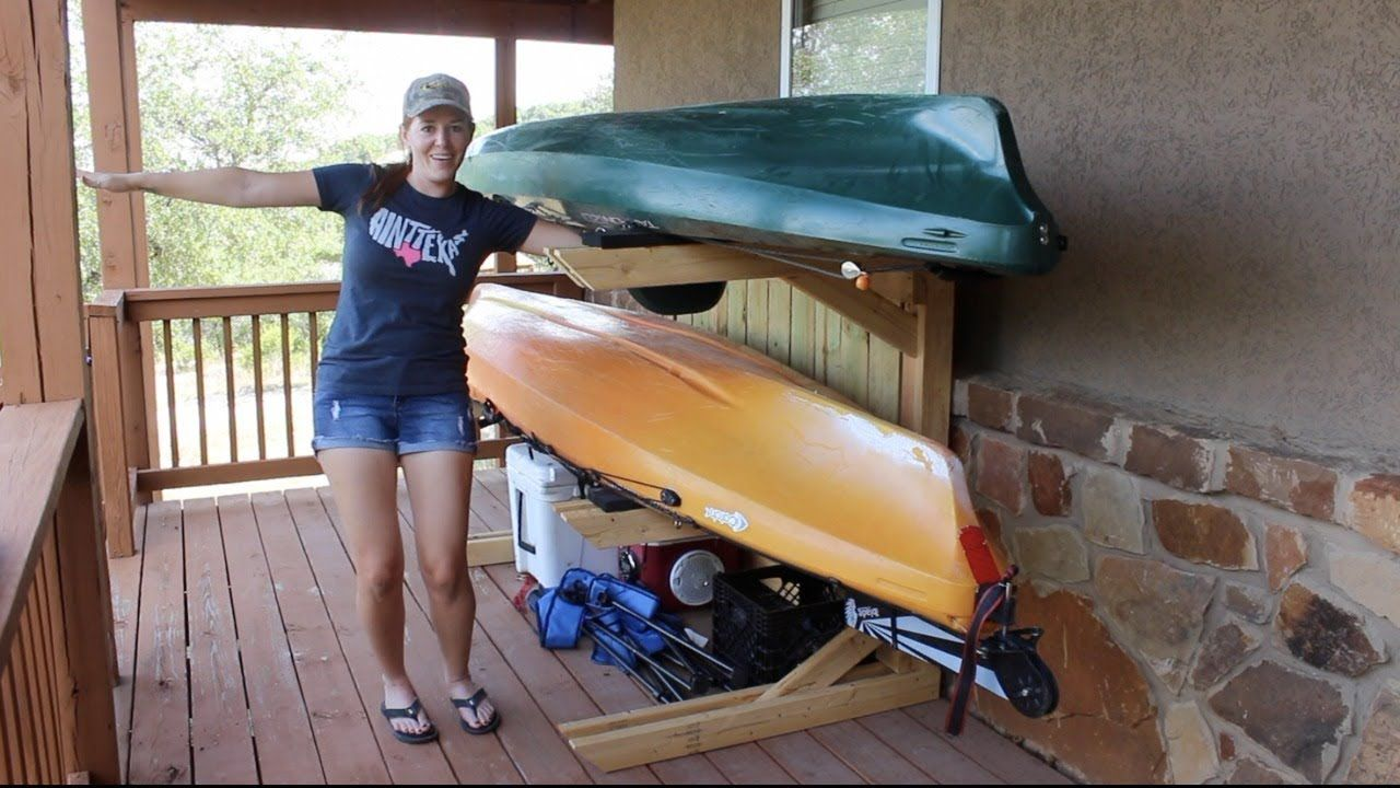 Building a kayak rack yak rak kayak rack diy kayak