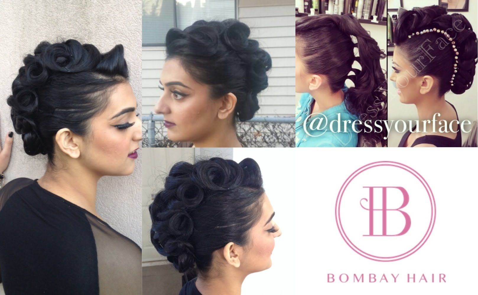 DressYourFace Inspired Faux Hawk/Mohawk Hairstyle Tutorial ft. Bombay Hair