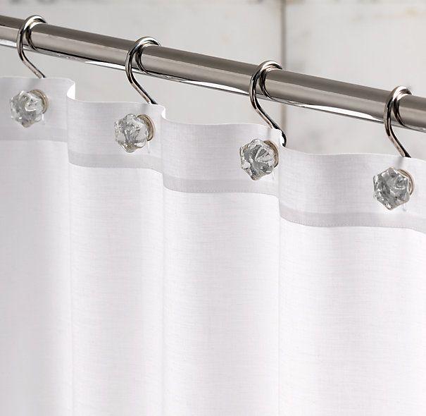 Wonderful Glass Shower Curtain Hooks (Set Of 12)