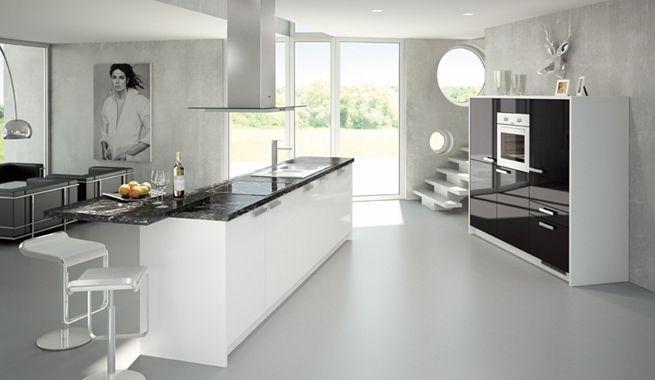 Cocinas blancas de dise o kitchens pinterest cocinas for Cocinas diseno blancas
