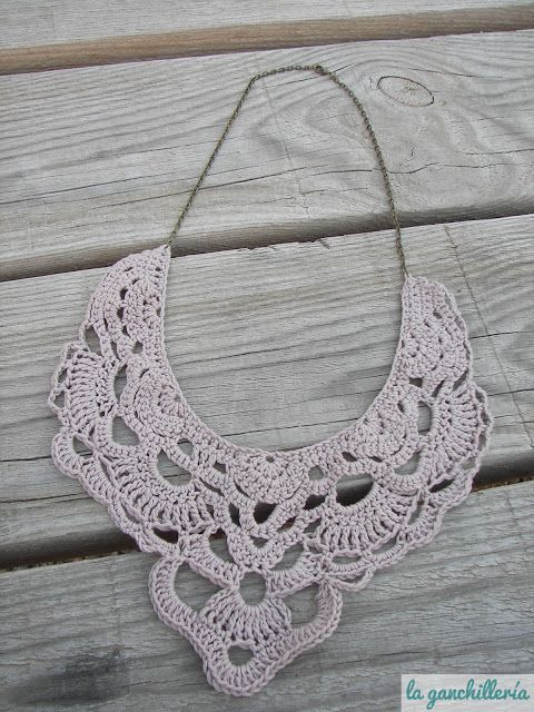 Lace necklace #crochet #necklace #jewelry | bijou | Pinterest ...