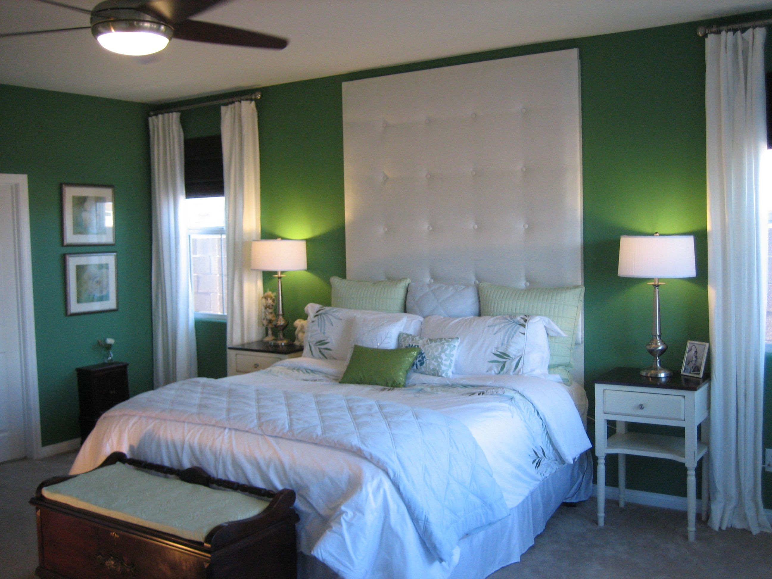 my favorite colour...green... | Green master bedroom ...