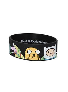 Adventure Time Finn and Jake Rubber Wristband Shipping Included