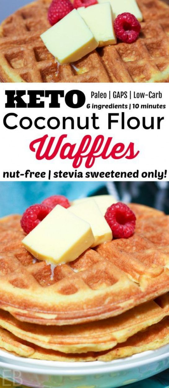 Your favorite recipe source for healthy food [Paleo, Vegan, Gluten free] Keto Coconut Flour Waffles {nut-free stevia only GAPS low-carb Paleo}