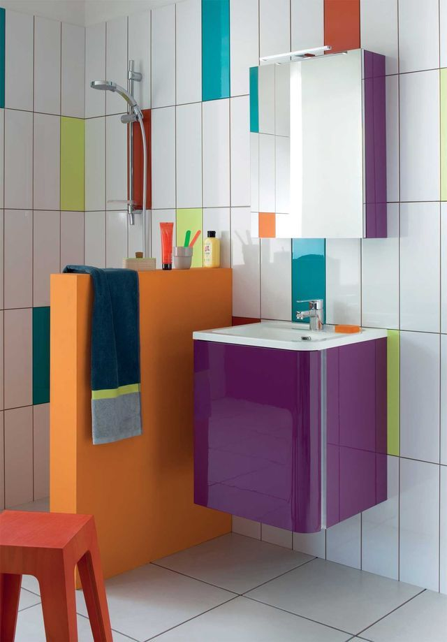 petite salle de bain 12 photos pour lamnager et la dcorer - Salle De Bain Enfant