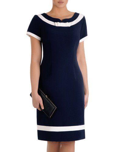 Sukienka damska Tenita I, granatowa kreacja z kont