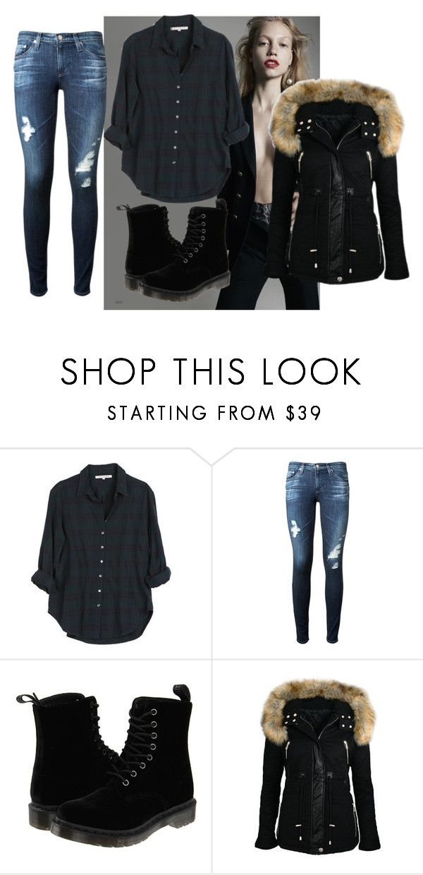 """""""so what"""" by emina-h15 ❤ liked on Polyvore featuring Xirena, AG Adriano Goldschmied and Dr. Martens"""