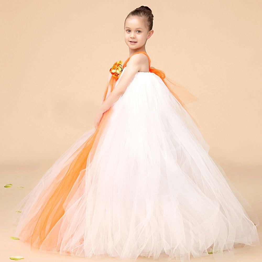 2 piece crop top wedding dress  Girls Flower Ball Gown Mesh Bow Princess  Kids Clothing  Pinterest
