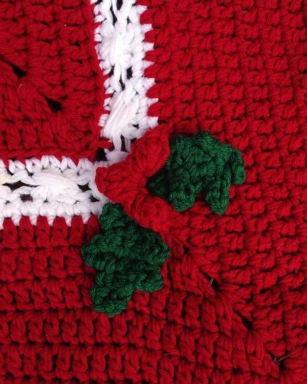 Holly & Berries Afghan & Pillow Crochet Pattern | Tejido