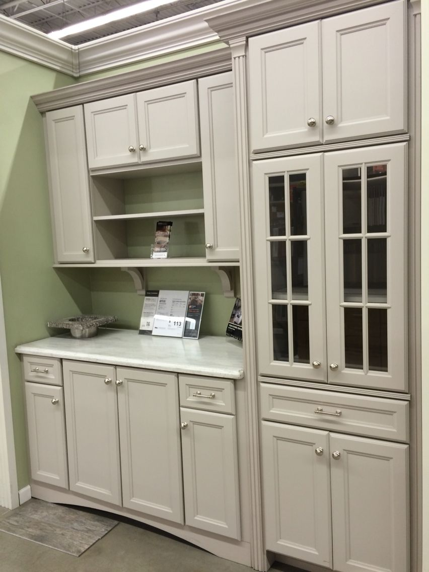 Martha Stewart Turkey Hill kitchen cabinets in Sharkey Grey at Home ...