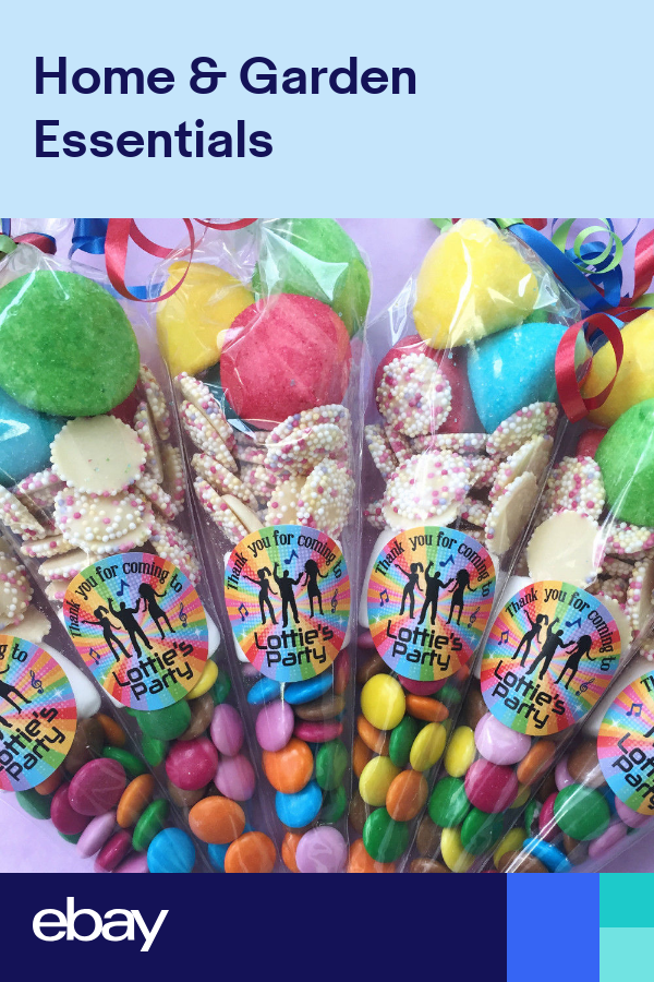 Disco Sweet Cones with Personalised Sticker party bags