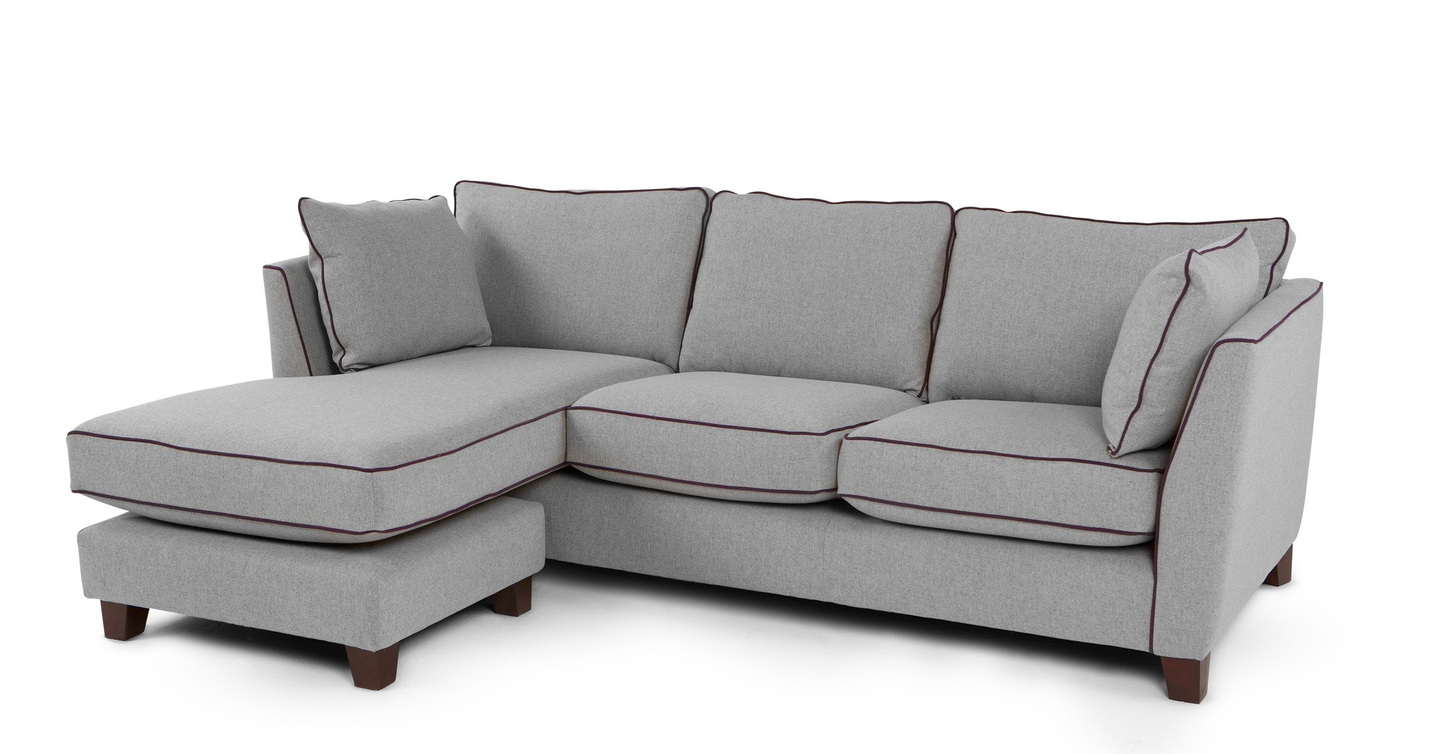 Wolseley large corner sofa wolf grey made.com tessa priors