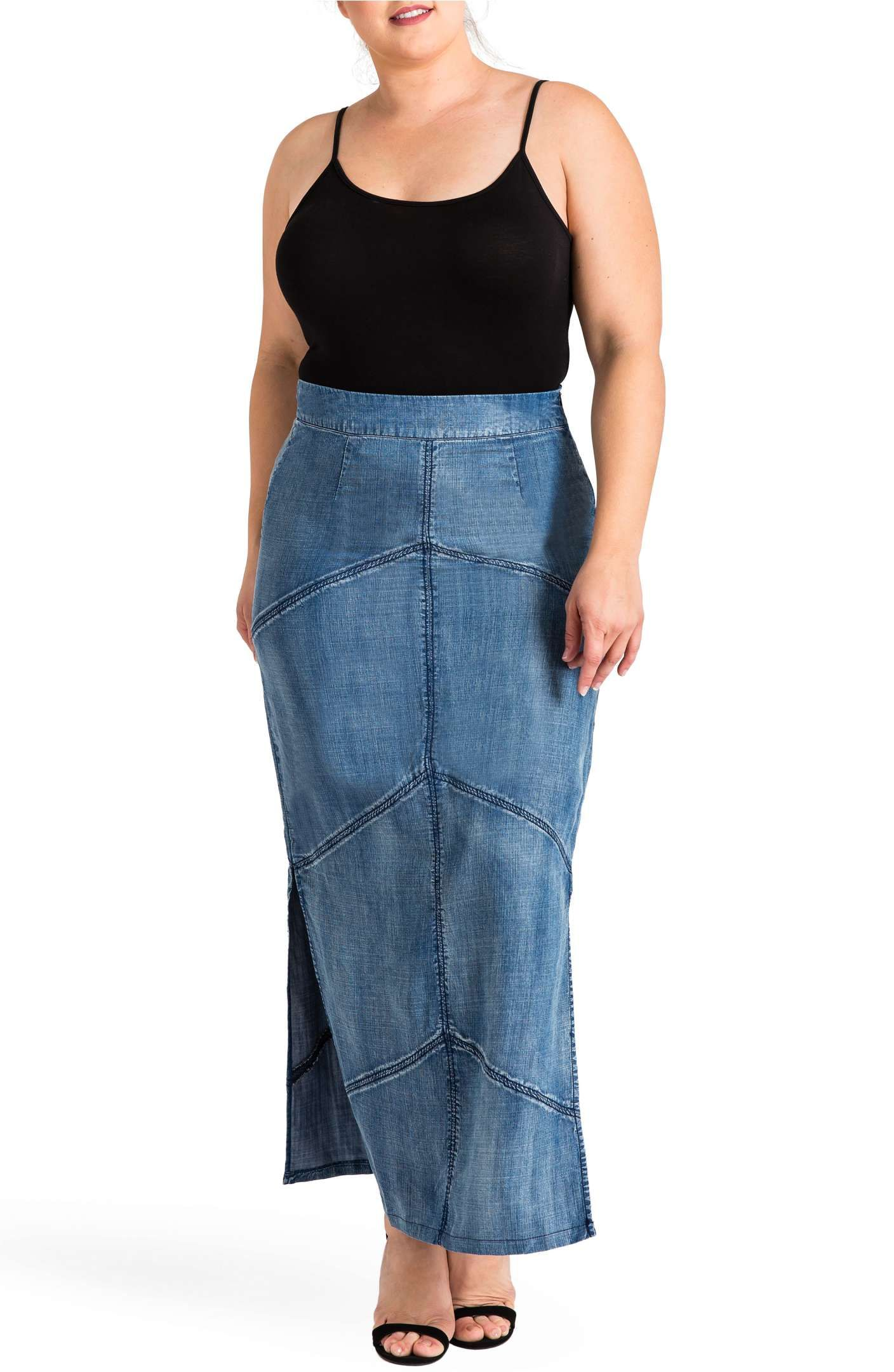 011bb6edf78 Main Image - Standards   Practices Paulina Maxi Pencil Skirt (Plus Size)