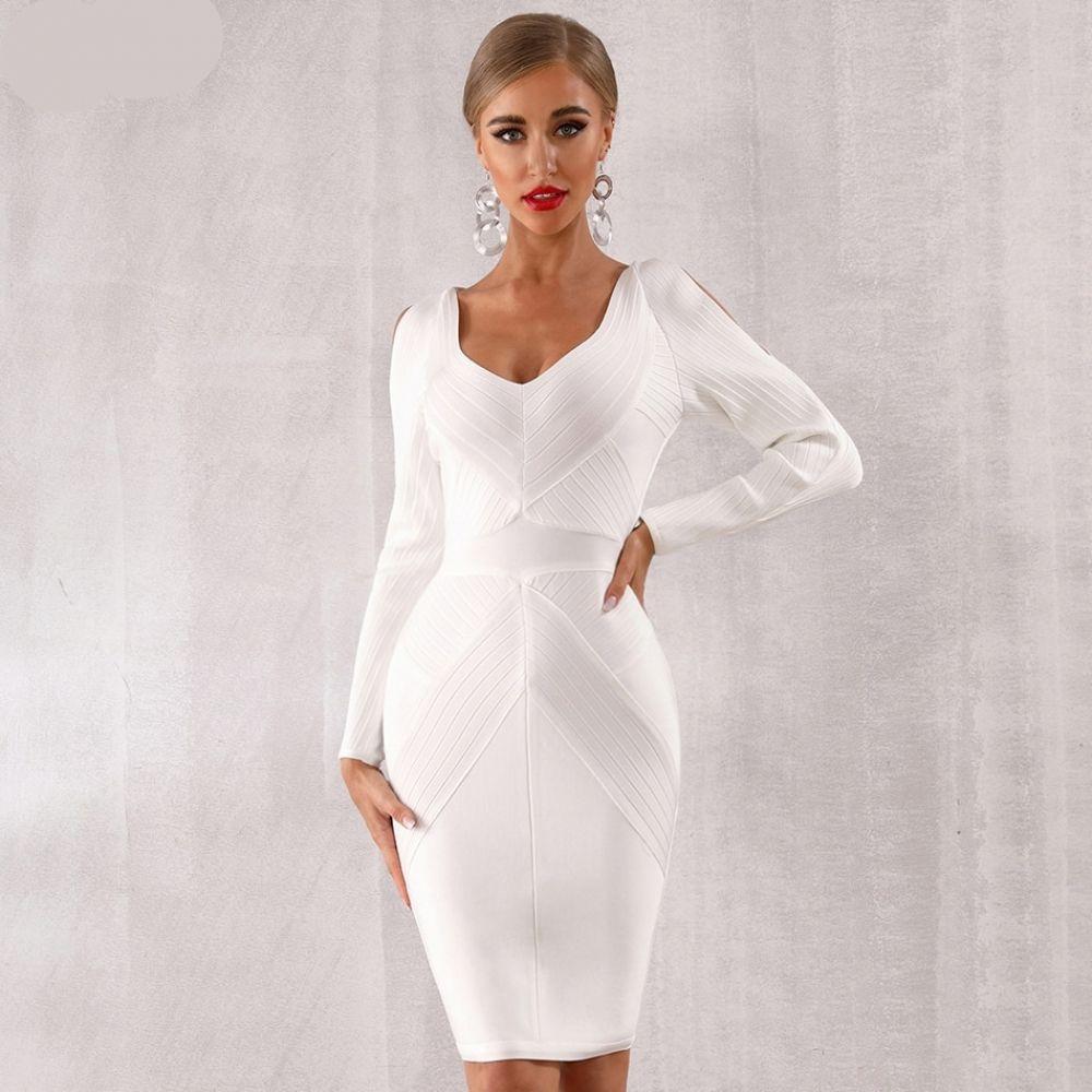 فستان أبيض مثير مكشوف الأكتاف موديل راقي موسم العيد Price 205 42 Free Shipping Https Lb Long Sleeve White Midi Dress White Cocktail Dress Hot Sale Dress [ 1000 x 1000 Pixel ]