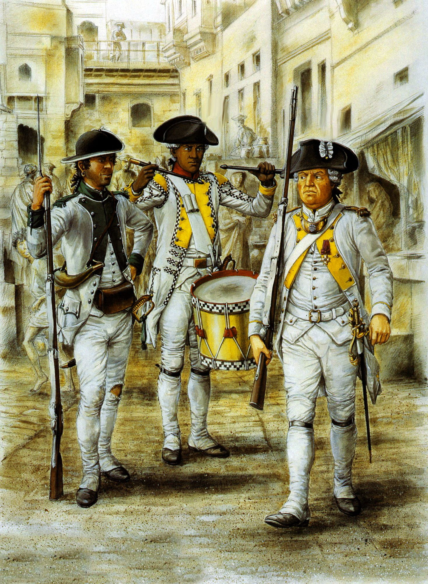 The French Regiments In The American War Of Independence Armee Francaise Guerre De Secession Revolution Americaine