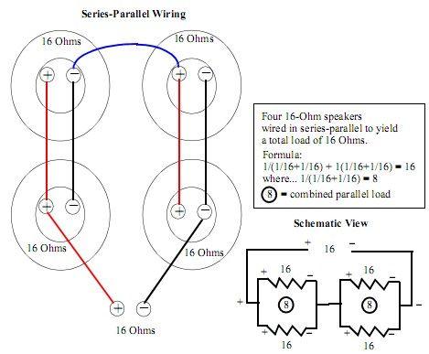 4x12 16ohm Series Parallel | Wiring Schematics | Coding, Dating, Wire