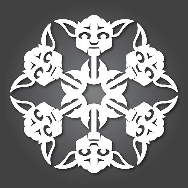 These star wars snowflakes are too cool and perfect to add some geek flavor to your Christmas!  Instructions and download links at the bottom. Merry Christmas from the mmminimal team:)