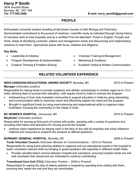 Biology And Chemistry Student Resume Sample Student Resume Student Resume Template Resume Examples